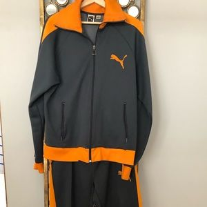 RARE Vintage Puma Tracksuit grey/orange